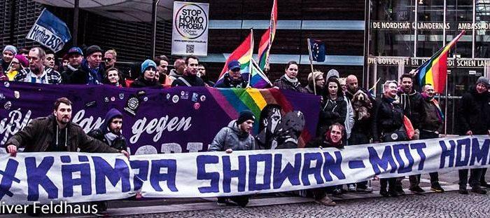 KÄMPA SHOWAN Kundgebung – Vorplatz Nordische Botschaften in Berlin