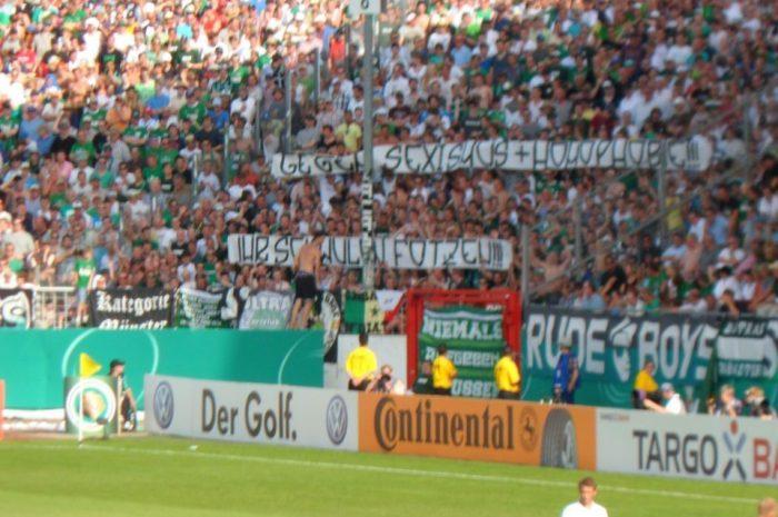 Sexismus und Homphobie bei Münster vs. Bremen
