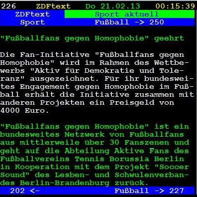 """""""Fußballfans gegen Homophobie"""" wird ausgezeichnet"""