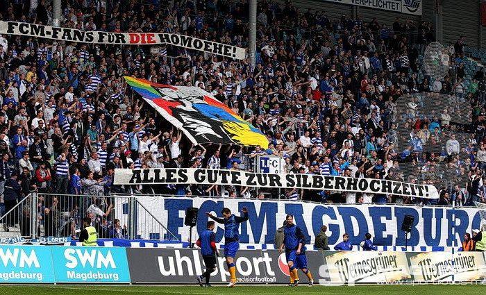 Magdeburg-Fans für die Homoehe!?